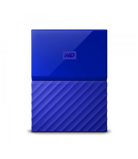 WD My Passport 2TB External Hard Drive (Blue)