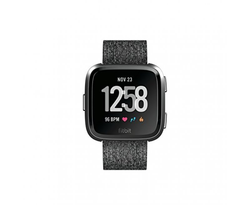 Fitbit Unisex Versa Special Edition Health and Fitness Smartwatch, Onesize (Charcoal)