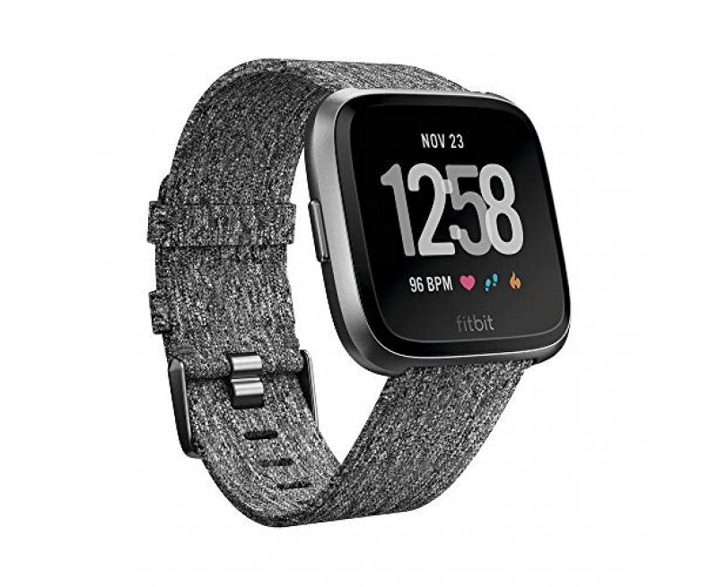 Fitbit Versa Health and Fitness Smartwatch, Small+large (Gray/Silver)