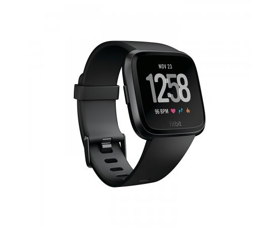 Fitbit Versa Health and Fitness Smartwatch, Onesize (Black) (Unisex)