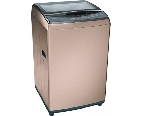 Bosch 7 Kg Inverter Fully-Automatic Top Loading Washing Machine (WOA702R0IN, Rose Gold)