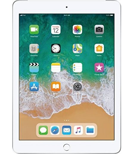 Apple iPad (6th Gen) Tablet (9.7 inch, 128GB, Wi-Fi + 4G LTE ), Silver