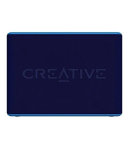 Creative Muvo 2c Water Resistant Bluetooth Speaker for Music Festivals, Concerts, Raves, Dust, and More (Blue)