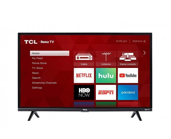 TCL 81.28 cm (32 Inches) Google Certified Android Smart HD Ready LED TV 32S65A (2020 Model, Black)