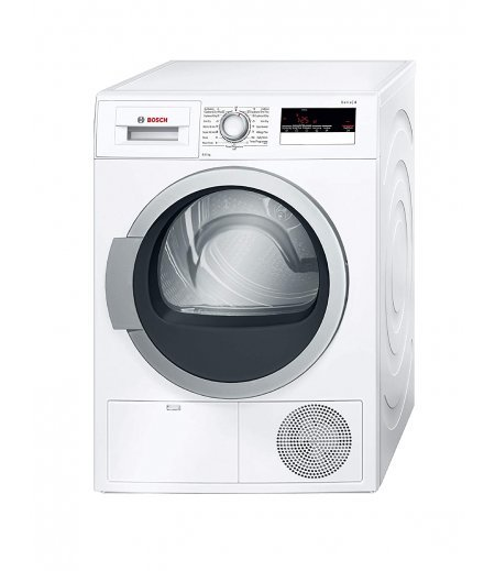 Bosch 8 kg Inverter Fully Automatic Condenser Dryer (WTB86202IN, White, Inbuilt Heater)