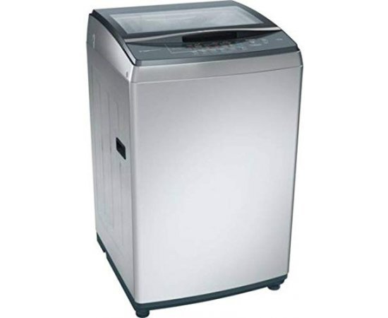 Bosch 7.5 kg Fully Automatic Top Load Washing Machine (Silver)