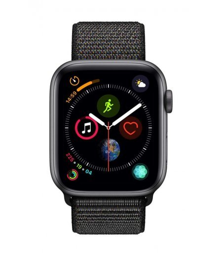 AppleWatch Series4 (GPS+Cellular, 44mm) - Space Gray Aluminium Case with Black Sport Band