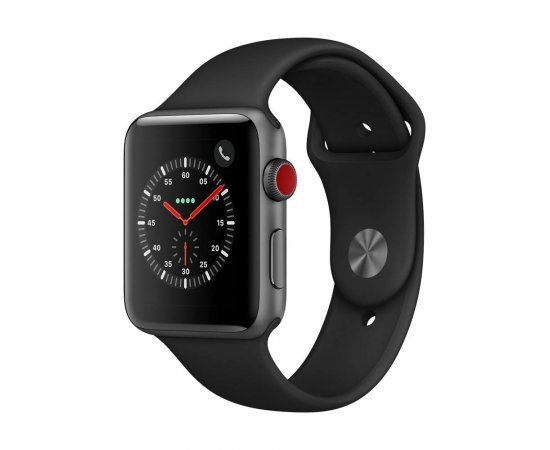 Apple Watch Series 3 (GPS + Cellular, 42mm) - Space Grey Aluminium Case with Black Sport Band
