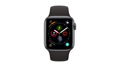 AppleWatch Series4 GPS, 40mm Space Grey Aluminium Case with Black Sport Band