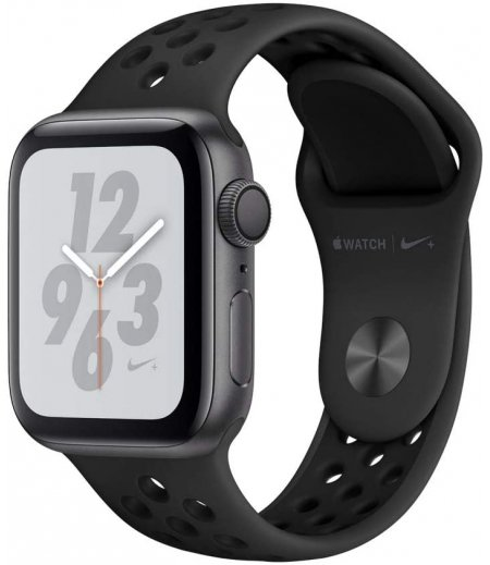AppleWatch Nike+ Series4 (GPS, 40mm) - Space Grey Aluminium Case with Anthracite/Black Nike Sport Band