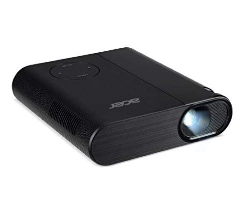 Acer C200 LED Projector - 200 Lumens - Native Resolution FWVGA 854 x 480 - 6700 mAh Battery - 30000 Hrs Lamp Life