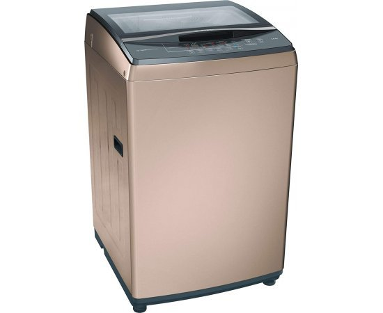 Bosch 8 kg Fully-Automatic Top Loading Washing Machine (WOA802R0IN, Champagne)