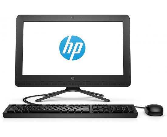 HP 19.5-inch All-in-One Desktop (Celeron J4005/4GB/1TB HDD/DOS/Intel UHD 600 Graphics), Jet Black
