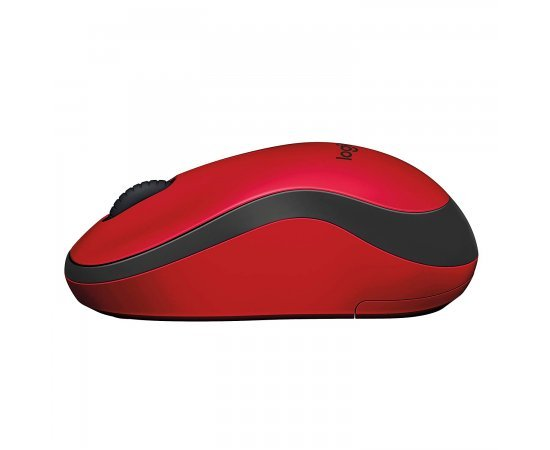 Logitech M221 Silent Wireless Mouse- Red