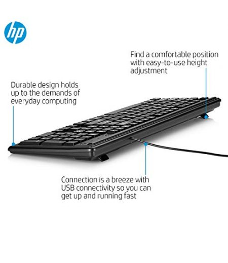 HP 100 Wired USB Keyboard