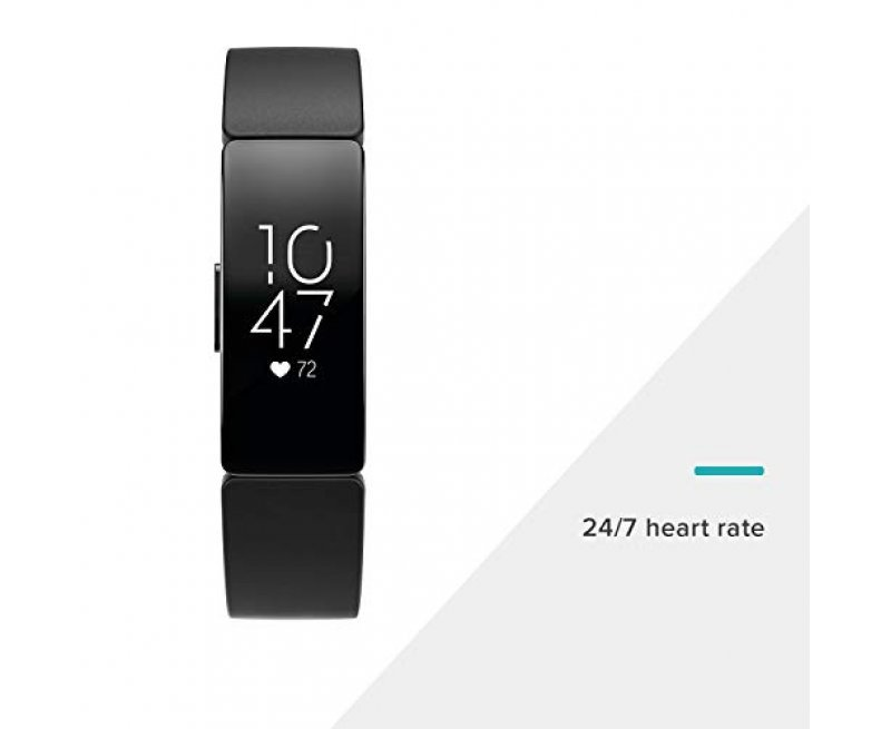 Fitbit Inspire HR Health and Fitness Tracker with Heart Rate (White)