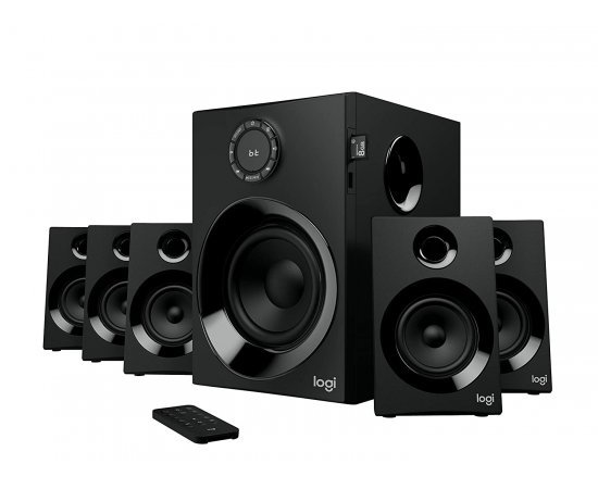 Logitech Z607 5.1 Surround Sound Speaker System with Bluetooth (Black)
