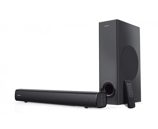Creative Stage 2.1 Channel 160W Under-Monitor Soundbar with Subwoofer for TV Computers, and Ultra Wide Monitors Bluetooth/Optical Input/TV ARC/AUX-in, Remote Control and Wall Mounting Kit (Black)