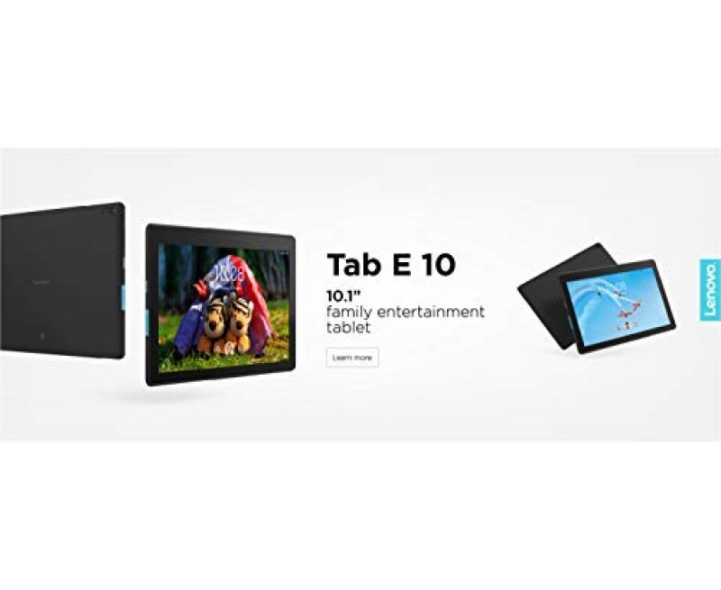 "Lenovo E10 X-104F Tablet (Qualcomm Quad Core 1.3 GHz, WiFi Only, 1GB RAM, 16GB Storage, 10"" HD, 5MP AF 