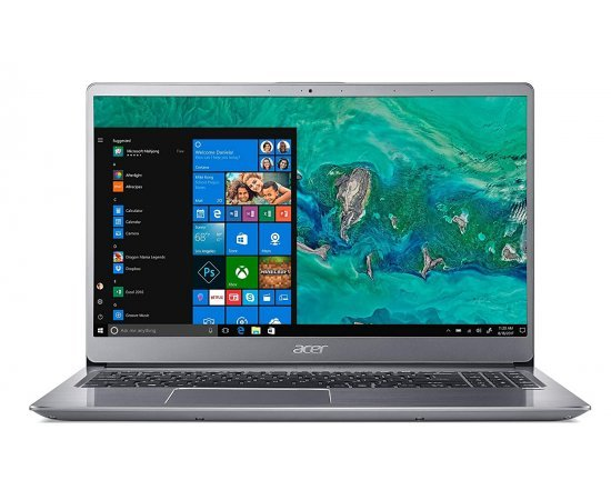 Acer Swift 3 8th Gen Core i5 15.6-inch Full HD Thin and Light Laptop (8GB RAM, 1TB HDD + 128GB SSD, 2GB MX150, Windows 10, Office H&S, 1.8kg) Sparkly Silver