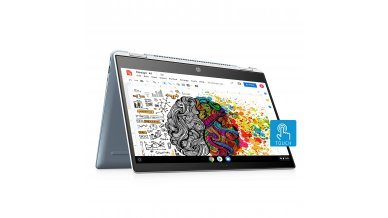 HP Chromebook x360 14c 14-Inch FHD Touch Narraow Bezel Laptops (10th Gen Core i3-10110U, 4GB RAM, 64GB eMMC SSD, 256GB Expandable, 100GB Cloud, Chrome OS, G-suite, Google Assistant, MSO apps, Backlit, Finger Reader) Mineral Silver
