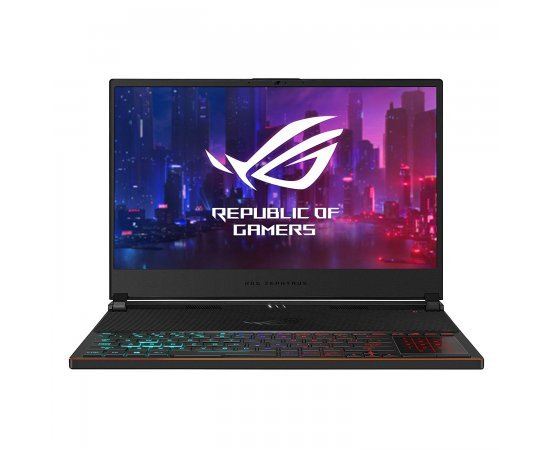 """ASUS ROG Zephyrus S GX531 15.6"""" FHD 240Hz Gaming Laptop with RTX 2070 Max-Q 8GB Graphics (9th Gen Core i7-9750H, 24GB RAM, 1TB SSD, Windows 10, Illuminated Chiclet Keyboard 4-Zone RGB, NumberPad, 2.10 Kg) Black with hairline"""