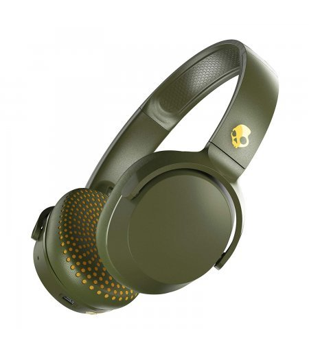 Skullcandy Riff Wireless On-Ear Headphone with Mic (Moss/Olive/Yellow)