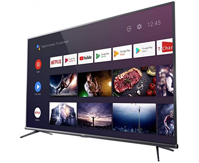 TCL 138.78 cm (55 inches)  AI 4K UHD Certified Android Smart LED TV 55P8E Elite (Black) (2019 Model)