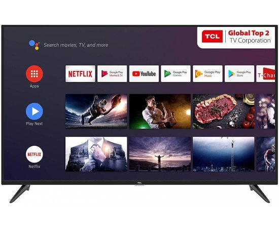 TCL 108 cm (43 inches)  AI 4K UHD Certified Android Smart LED TV 43P8 (Black) (2019 Model)