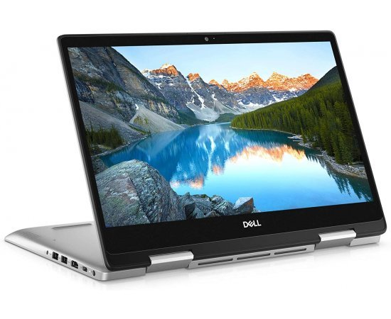 "Dell New Inspiron 5491 2-in-1 14"" Full HD Touch Screen Laptop (10th Gen Core i3-10110U, 4GB RAM, 1TB HDD + 256GB SSD, Windows 10, Office H&S 2019, Backlit Keyboard) Silver"