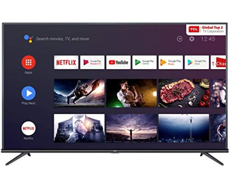 TCL 108 cm (43 inches) 4K Ultra HD Smart Certified Android LED TV 43P8E (Black) (2019 Model)