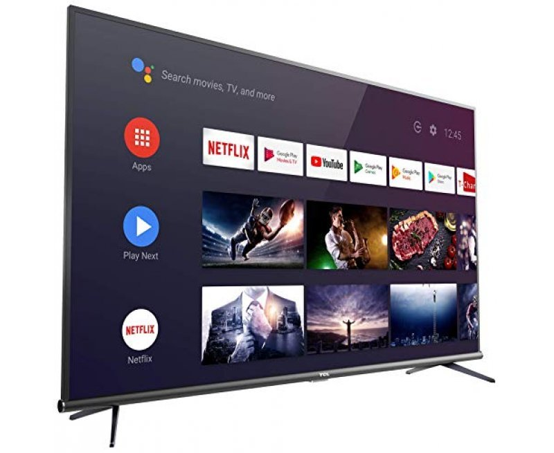 TCL 163.96 cm (65 inches) 4K Ultra HD Smart Certified Android LED TV 65P8E (Black) (2019 Model)