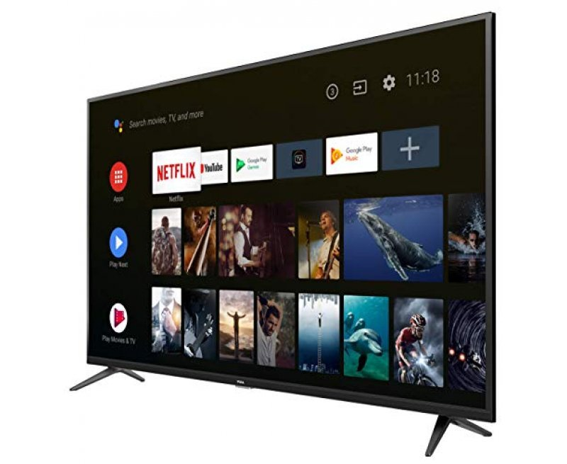 TCL 138.78 cm (55 inches)  AI 4K UHD Certified Android Smart LED TV 55P8 (Black) (2019 Model)