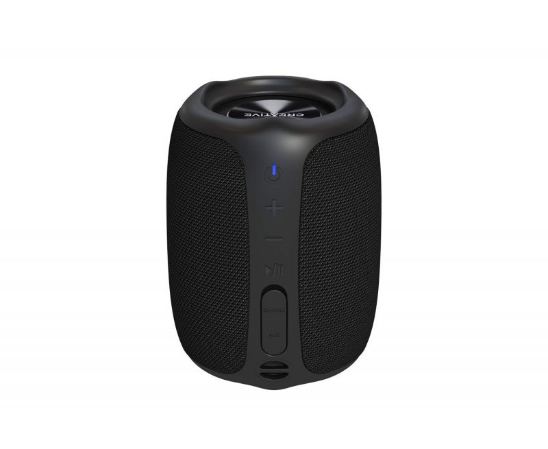 Creative Muvo Play Portable Bluetooth 5.0 Speaker, IPX7 Waterproof for Outdoors, Up to 10 Hours of Battery Life, with Siri and Google Assistant (Black)