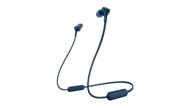Sony WI-XB400 Wireless Extra Bass in-Ear Headphones with 15 Hours Battery Life, Quick Charge, Magnetic Earbuds, Tangle Free Cord, Bluetooth Ver 5.0, Headset with Mic for Phone Calls – (Blue)