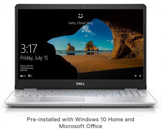 DELL Inspiron 5584 15.6-inch Laptop (8th Gen Core i5-8265U, 8GB RAM, 2TB HDD, 2GB Nvidia MX130, Windows 10, Office H&S) Silver