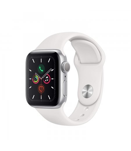 Apple Watch Series 5 (GPS, 40mm) - Silver Aluminium Case with White Sport Band
