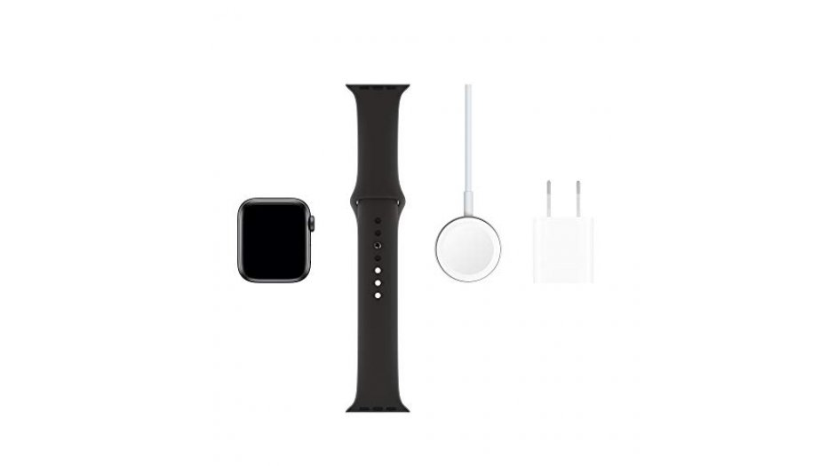 Apple Watch Series 5 GPS + Cellular, 44mm Space Grey Aluminium Case with Black Sport Band Smart Watches