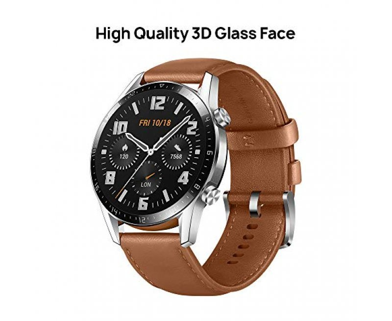Huawei Watch GT 2 (46 mm) with 2 Weeks Battery Life, Bluetooth Calling, Classic Edition (Pebble Brown)
