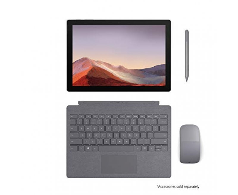 "NEW Microsoft Surface Pro 7 – 12.3"" Touch-Screen - Intel Core i7 - 10th Gen 16GB Memory - 512GB SSD (Latest Model) – Platinum"
