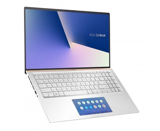 ASUS Zenbook Classic UX534FT 15.6-inch Thin and Light Laptop with ScreenPad (10th Gen Core i7-10510U, 16GB RAM, 1TB SSD, 4GB NVIDIA GeForce GTX1650 MAX Q Graphics, Windows 10, Office H&S 2019) Icicle Silver