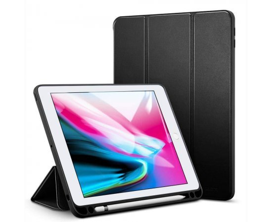 JR Case for iPad 10.2 inch 2019 Pencil Holder Slim Lightweight Trifold Stand Smart Shell with Auto Wake/Sleep Soft TPU Back, Cover for Apple iPad 7th Generation 10.2 2019 - Multi Color