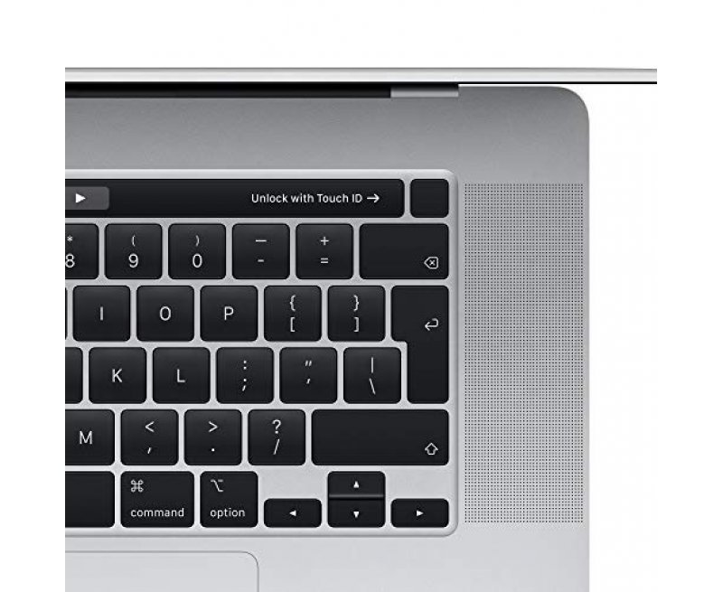 New Apple MacBook Pro 16-inch with Touch Bar (19th Gen Core i7, 16GB RAM, 512GB Storage) - Silver