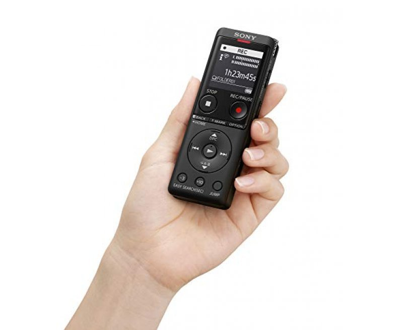 Sony ICD-UX570F Light Weight Voice Recorder, with 20hours Battery Life, 4GB Built-in Memory - Black