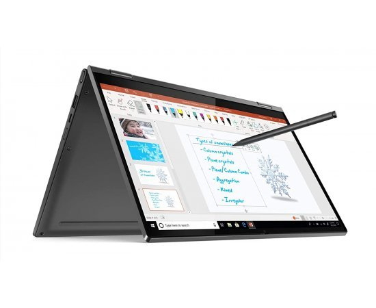 Lenovo Yoga C640 81UE0034IN 13.3-inch FHD IPS Convertible Laptop (10th Gen CORE I5-10210U/8GB/512GB SSD/Windows 10/Microsoft Office/Integrated Graphics), Iron Grey