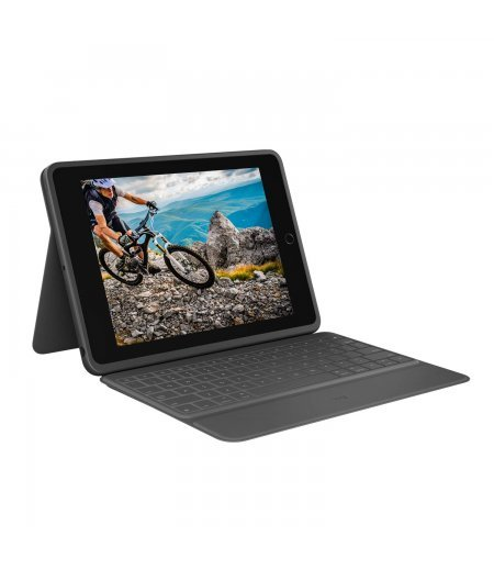 """Logitech Rugged Folio Ultimate Protective Keyboard Case with Smart Connector and Durable Spill Proof Keyboard for iPad 7th Generation-10.2"""" Inch (Model: A2197, A2198 & A2200)"""