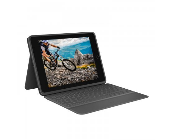 "Logitech Rugged Folio Ultimate Protective Keyboard Case with Smart Connector and Durable Spill Proof Keyboard for iPad 7th Generation-10.2"" Inch (Model: A2197, A2198 & A2200)"