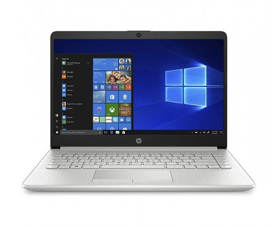 """HP Notebook 14s Thin and Light Laptop with USB-C (10th Gen Core i3-1005G1, 4GB RAM, 1TB HDD, 14"""" Full HD, Windows 10, Office H&S 2019, 1.51 kg) Natural Silver"""