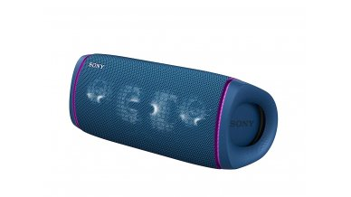 Sony SRS-XB43 Wireless Extra Bass Bluetooth Speaker with 24 Hours Battery Life, Party Lights, Party Connect, Waterproof, Dustproof, Rustproof, Speaker with Mic, Loud Audio for Phone Calls (Blue)
