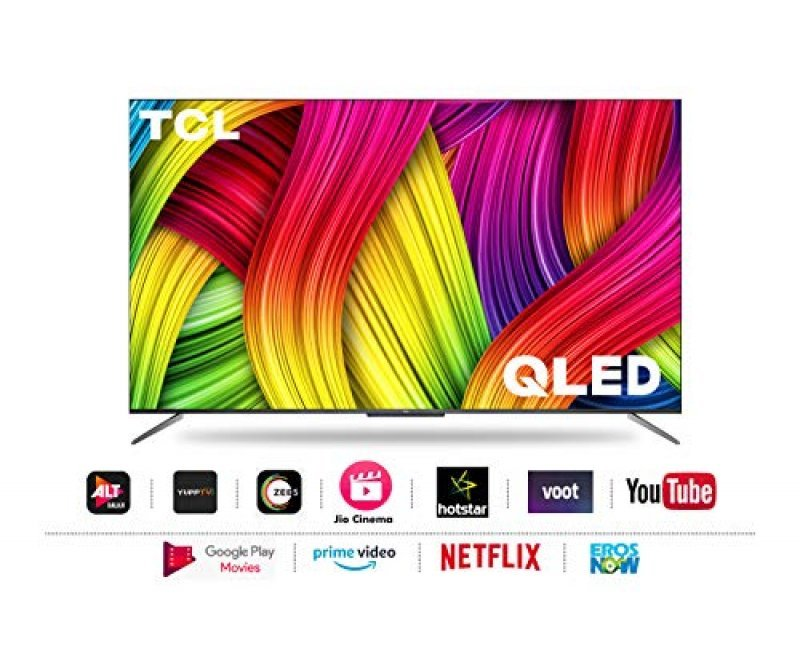 TCL 125.7 cm (50 inches) 4K Ultra HD Certified Android Smart QLED TV (Metallic Black) (2020 Model)   with Voice Control